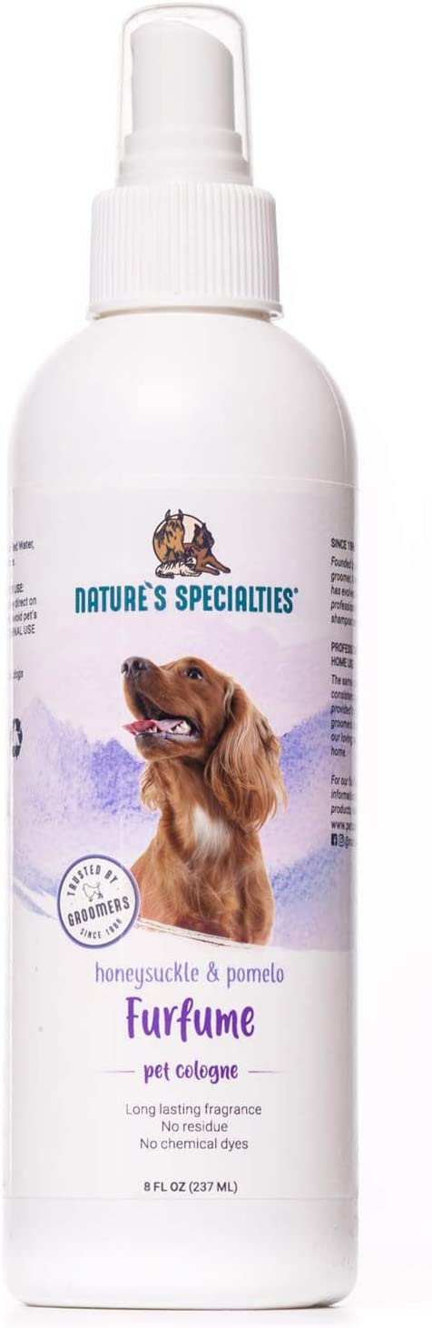 Nature's Specialties Furfume - Pet Cologne which Leaves Pet's Coats Smelling Fresh & Clean - Made in USA - 8oz
