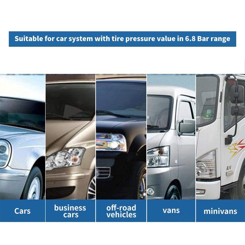 SUV Auto TPMS Reifendruck Kontrollsystem Reifendruckmesser mit 4 externen Sensoren LCD Display Temperatur Anzeige Solar Echtzeitanzeige Und Alarmfunktion f/ür Auto Solar Reifendruckkontrollsystem