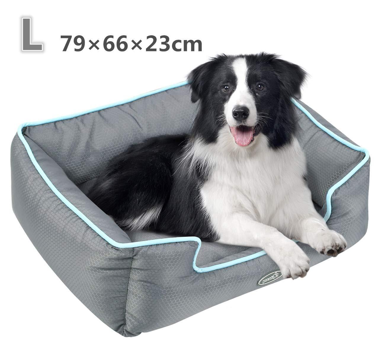 Pecute Cama de Perros y Gatos Alfombra para Mascotas Tela Impermeable Desmontable y Extraíble (L