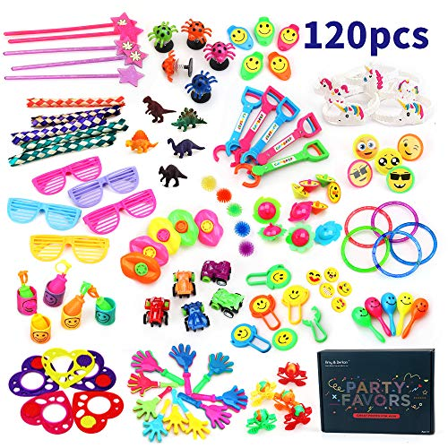 Amy&Benton 120PCS Carnival Prizes for Kids Birthday Party Favors Prizes Box Toy Assortment for Classroom -