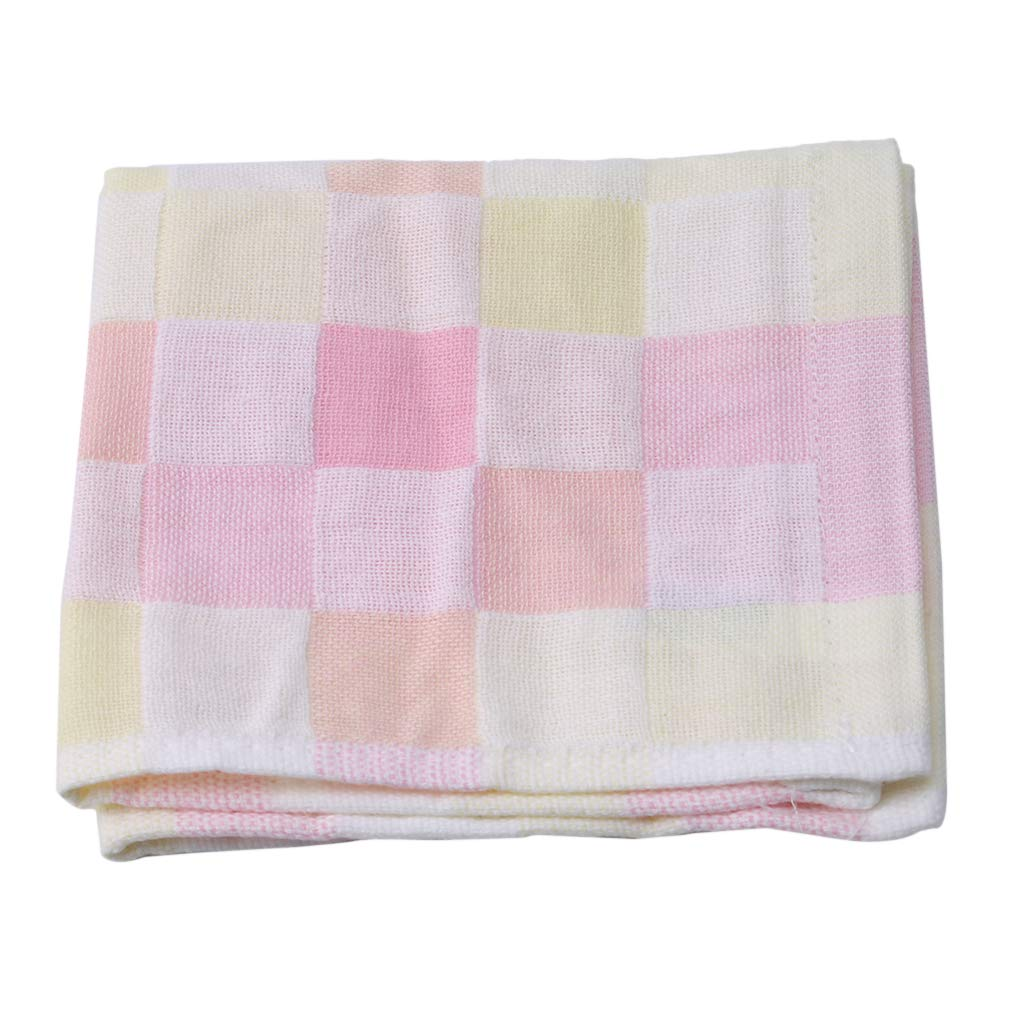 Meoliny Kitchen Dish Towel Gentle Cleaning Wash Cloth Cotton Flat Waffle Dish Cloth Single Bag for Delivery,Pink
