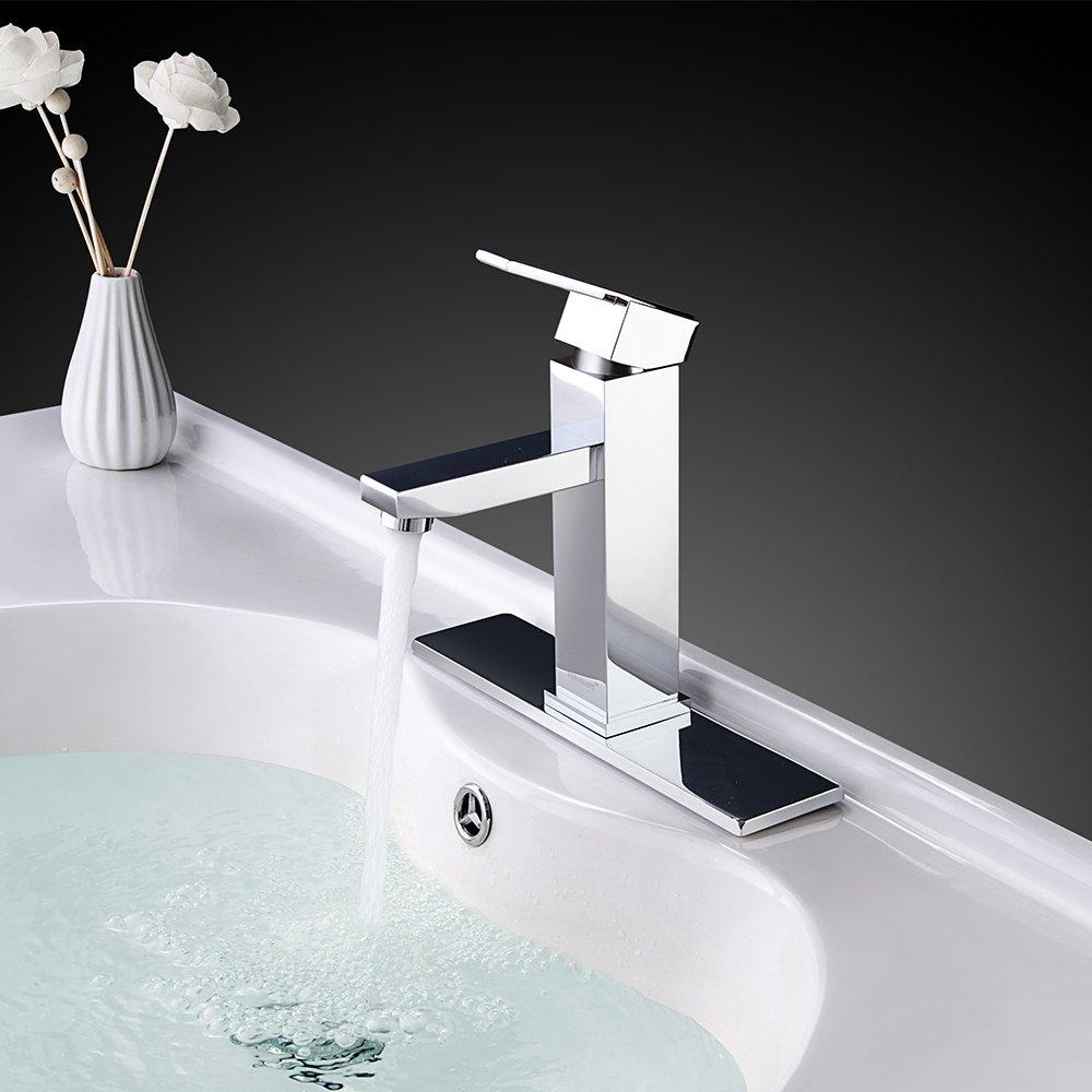 RBROHANT Single Handle Bathroom Faucet For Single Hole or Three Hole ...