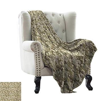 Amazon.com: LsWOW - Manta de verano con diseño de camuflaje ...