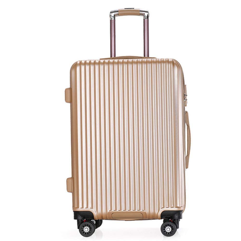 スーツケースの荷物のトロリーボックスの男性と女性のユニバーサルホイール20/24インチ搭乗スーツケースの韓国語版 (Color : ゴールド, Size : 24 inches)   B07R2NF9JR