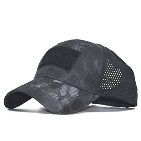 8b97caffb62 Zhou Yunshan Leisure Army Green Outdoor Sports And Leisure Camouflage Net  Cap Men s Baseball Hat. (Color   Black)  Amazon.co.uk  Kitchen   Home