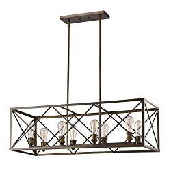 Acclaim Lighting IN21123ORB Brooklyn Indoor 8-Light Pendant, Oil Rubbed Bronze