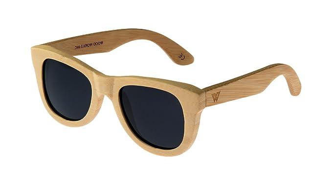 74ceda504a Wood Works Inc Everest Polarized Wayfarer Unisex Sunglasses Black ...