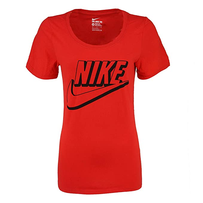 03f16b17d Image Unavailable. Image not available for. Color: Nike Women's Swoosh Logo  Graphic Tee ...