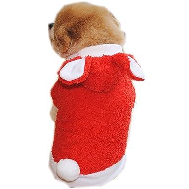 Ropa para Mascotas,Dragon868 Moda Suave cálido Terciopelo Conejo Forma Ropa para pequeños Perros Mascota: Amazon.es: Ropa y accesorios