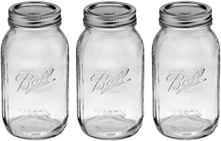 product image for Ball Regular Mouth 32-Ounces Quart Mason Jars with Lids and Bands, Set of 3