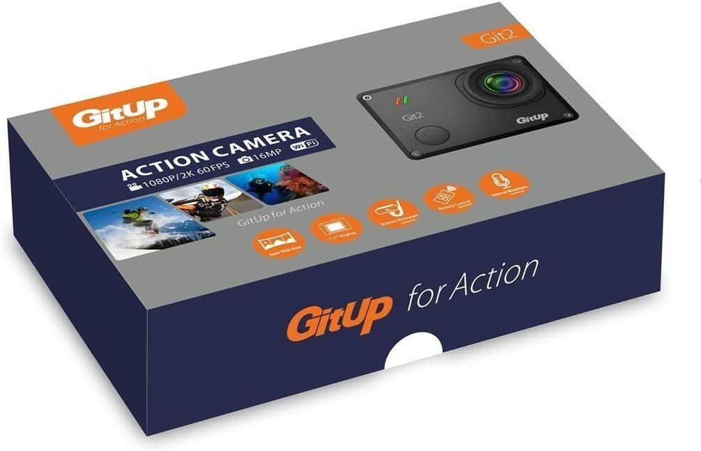 Casco de deportes al aire libre con cámara DVR resistente al agua, WiFi, y con llavero SILE Gitup Git2 2 K 30 FPS Novatek 96660 1080P, color with extra 10 accessories: Amazon.es: