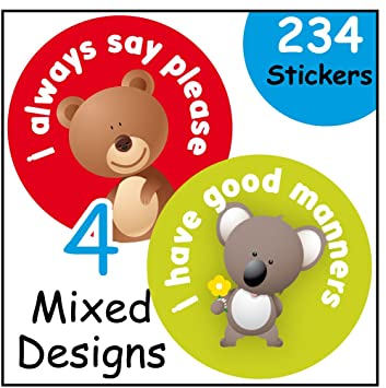 Reward Stickers Good Manners Good Behaviour Incentive For
