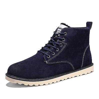 Hishoes Homme Chaudes Suède Bottes de Neige Hiver Casual Chaussure d hiver  de Plein air 443ee3eb02bf
