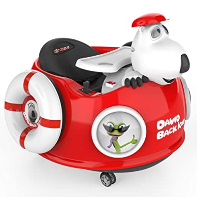 HOVER HEART Bernard Bear Ride-On Toy 6V/4.5Ah with LED 3 Wheels for Kids (Red S1): Sports & Outdoors
