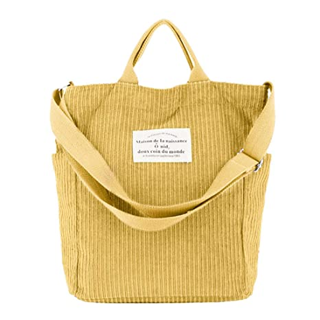 KunmniZ - Bolso al Hombro para Mujer Amarillo F: Amazon.es ...