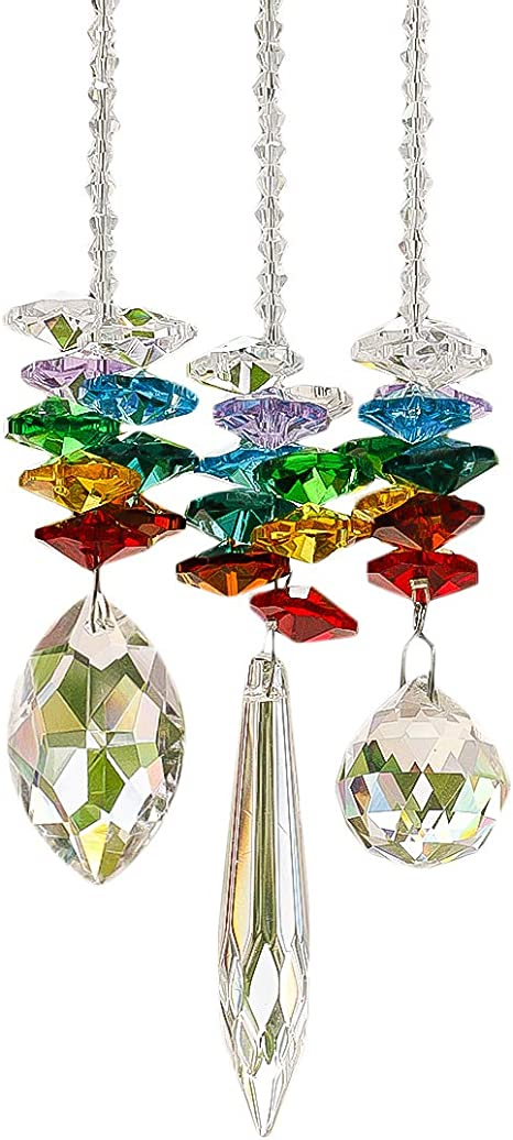 ScallopPearMaple Toowood Crystal Colorful Jewelry Crystals Pendants /&Chandelier Suncatchers Prisms Hanging Ornament Prisms Rainbow Crystal Pendants