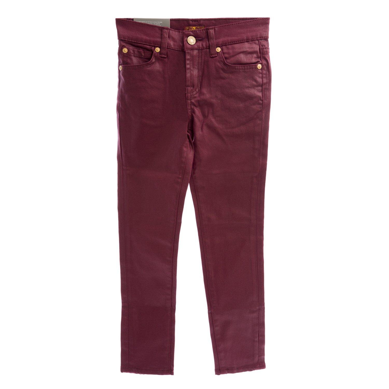 7 For All Mankind Girls Coated Skinny Legging Jeans, 12 Port