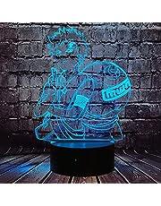 Naruto Gaara kształt lampa japońska komiks manga kreskówka anime Sabaku nie Gaara 3D optyczna lampka nocna LED czujnik dotykowy 7 kolorów zmiana dekoracja pokój nastrój lampa stołowa dla fanów pokoju dziecięcego prezent dla chłopaka