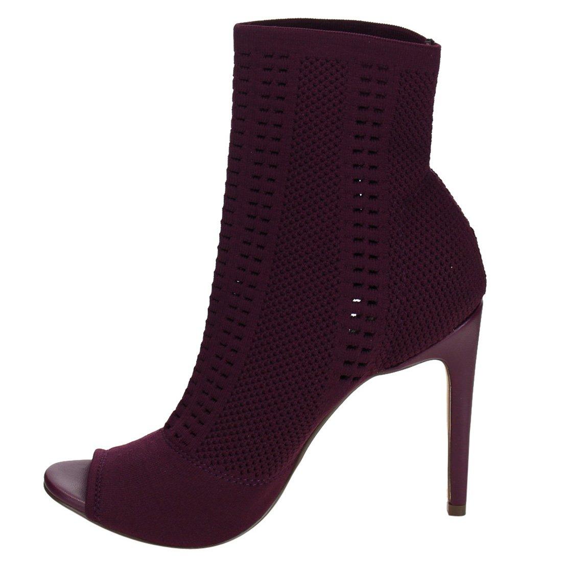 88522697d83d7 Amazon.com   BESTON DE43 Women's Knitted Peep Toe Stiletto Sock ...