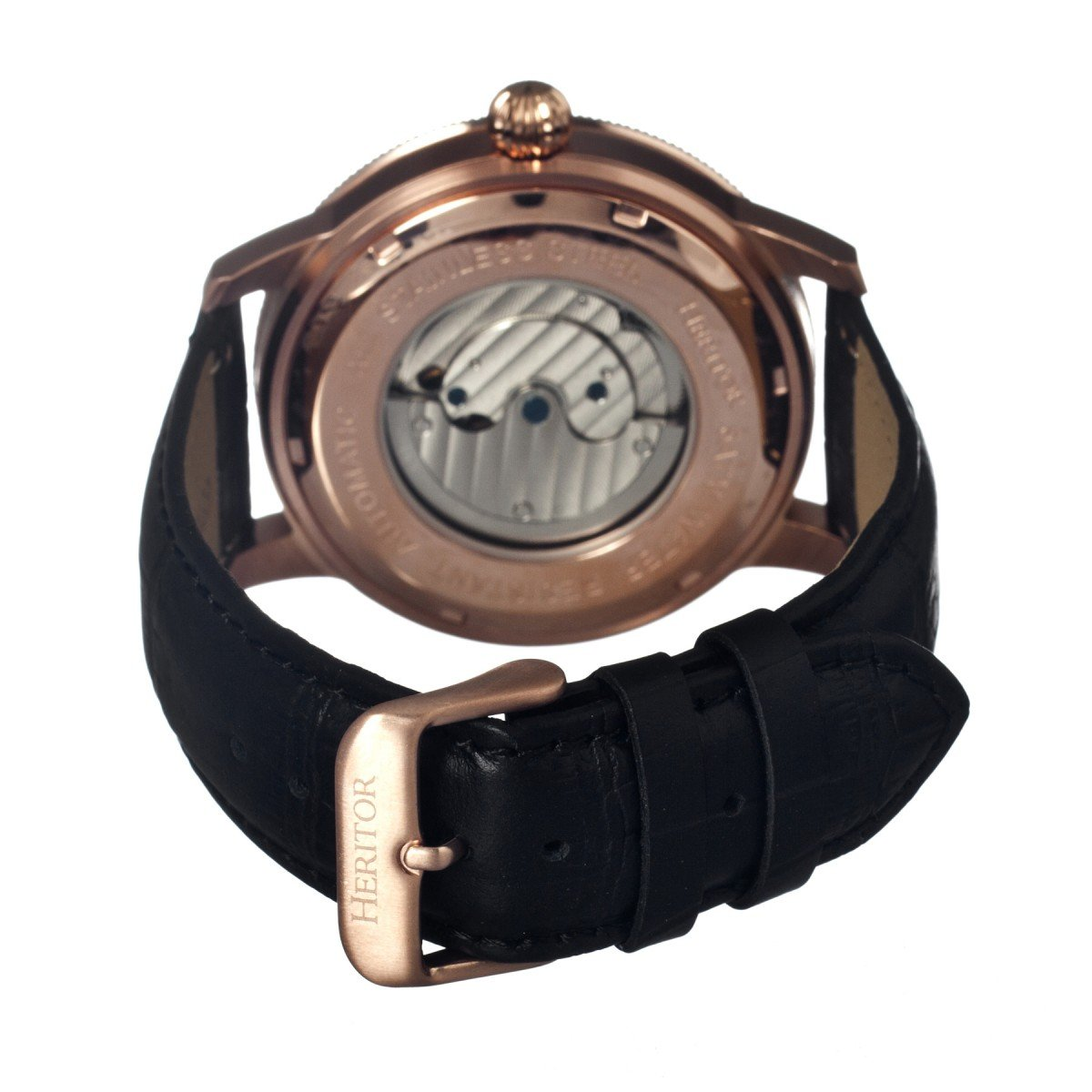 heritor automatic HERHR1004 - Reloj para hombres, correa de cuero color negro: Amazon.es: Relojes