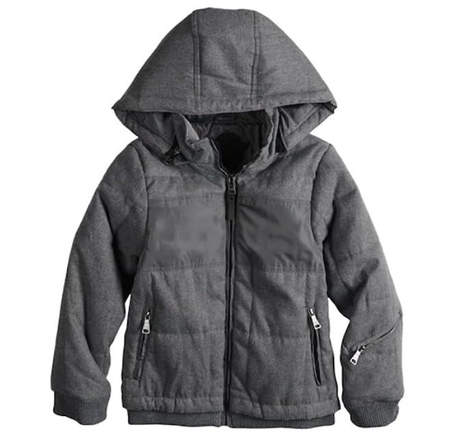 1792e6c3f020 Amazon.com  Urban Republic Boys 8-20 Wool Jacket (Storm Grey