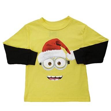 Amazon.com: Despicable Me Minion Toddler Boys Yellow Christmas T ...
