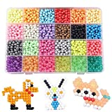 PATITI Beads Refill for Aquabeads and Beados 24 Colors 3000 Classic and Jewel Beads Water-activated Beads Craft Kit for Kids