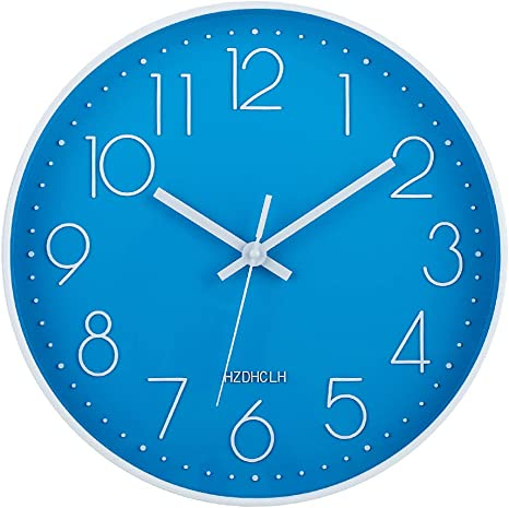 HZDHCLH Wall Clock 12 Inch Silent Non Ticking Clock for Living Room Bedroom