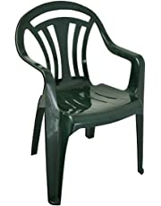 Plastic Garden Chair Low back - Colour Green