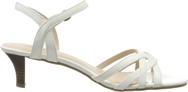 ESPRIT Damen Birkin Sandal Riemchensandalen Weiß White 100