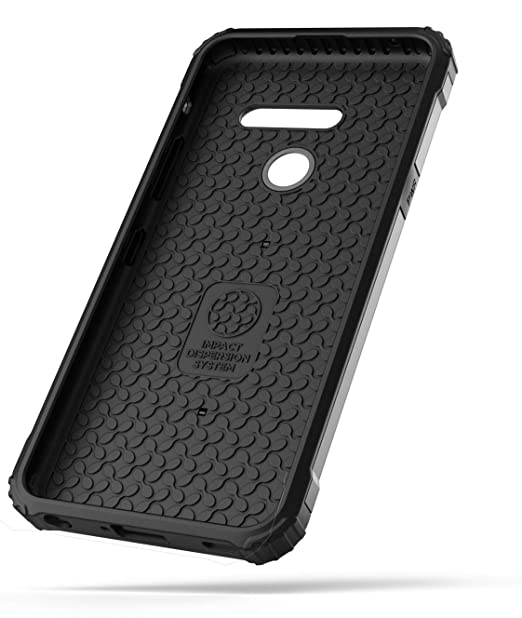 Encased Heavy Duty LG G8 ThinQ Case (2019 Scorpio) Rugged Military Grade Phone Protection - Gunmetal Grey