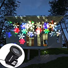 Moving Colorful Snowflake Projector Lamp, IPX65 Waterproof Landscape Projector Lights Night Light Spotlight for Christmas, Halloween, Holiday, Garden, Party, Home Decoration (Colorful Snowflake)