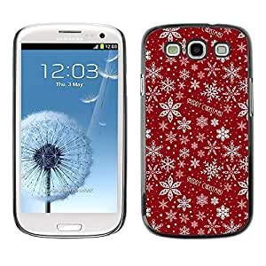 YOYO Slim PC / Aluminium Case Cover Armor Shell Portection //Christmas Holiday Red Pattern 1207 //Samsung Galaxy S3