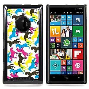 Jordan Colourful Shop - Horses Colorful Art Random Wallpaper Horse For Nokia Lumia 830 - < Personalizado negro cubierta de la caja de pl??stico > -