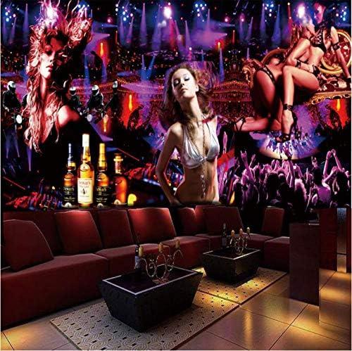 Hershop カスタム写真の壁紙3D KTVバー壁紙テーマ壁紙テレビ反射透視背景3d紫布壁壁紙
