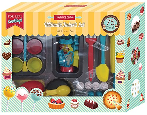 Handstand Kitchen 75-piece Ultimate Real Baking Set with Recipes for Kids ()