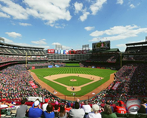 Globe Life Park Texas Rangers MLB Stadium Photo (Size: 16