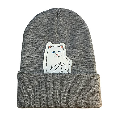 [ChezAbbey Winter Fashion Unisex Beanie Cap All-match Funny Cat Warm Knitted Hat] (Funny Hats For Sale)