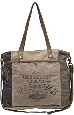 Amazon Com Myra Bags Life Always Upcycled Canvas Shoulder Bag S 0948 Tan Khaki Brown One Size Shoes Myrabag gives cowhide bag, old military tarp and tent bag, unique and fashionably chic bag. myra bags life always upcycled canvas shoulder bag s 0948 tan khaki brown one size