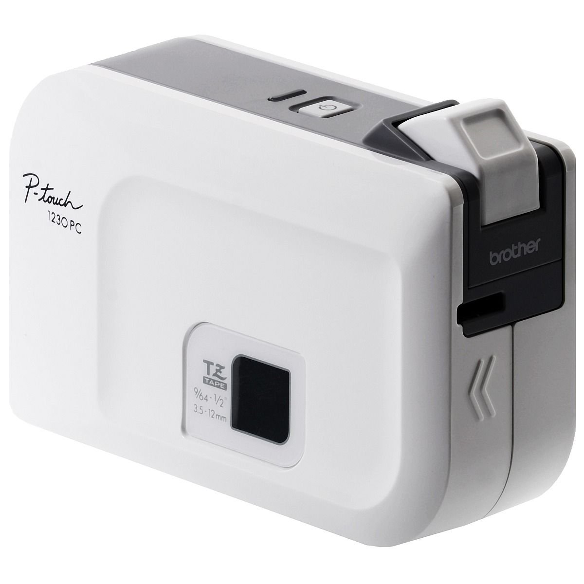 Brother P-touch, PT1230PC, PC-Connectable Label Maker, No Software Needed, Four Different Label Widths, Compact Design, White