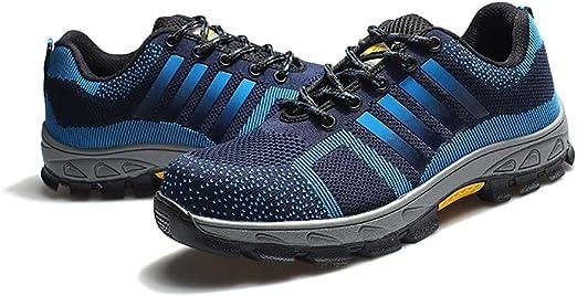 zapatos de seguridad Black Hammer Mens Zapatillas de deporte de seguridad a prueba de agua Gorra de punta de material compuesto ultra ligera y zapatos de trabajo de entresuela de Kevlar botas