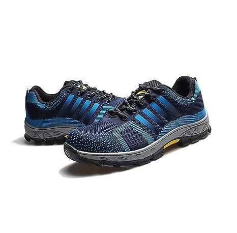zapatos de seguridad Black Hammer Mens Zapatillas de deporte de seguridad a prueba de agua Gorra