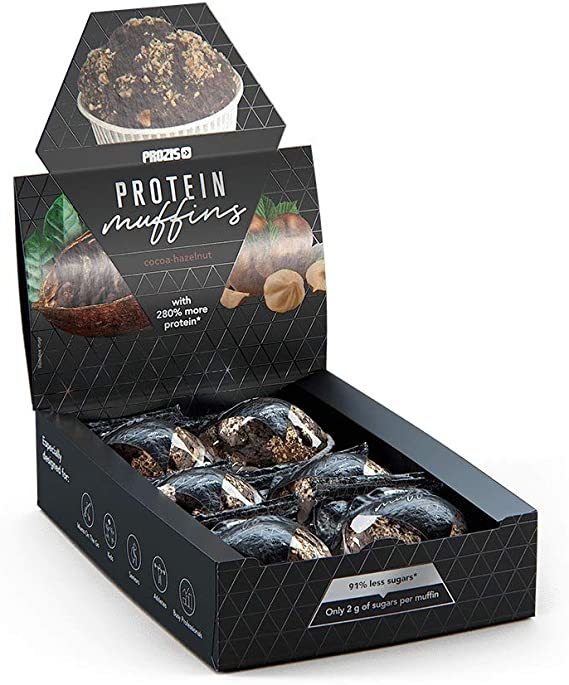 Prozis 6 x Protein Muffins – Cacao-avellana 60 g ...