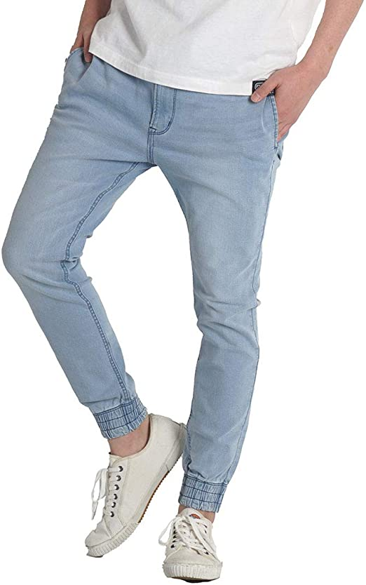 ジーンズ メンズ ジーパン デニムパンツ ジョガーパンツ ストレッチ パンツ サステナブル SDGs ウエストゴム ワングラスジーンズ ブランド M L XL(LL)