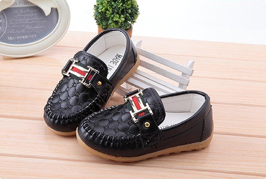 Bakerdani Boys Girls Slip-on Loafers Oxford Flat Shoes Toddler//Little Kid