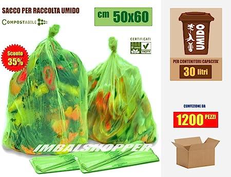 Descuento 35% para bolsas Residuos húmedos-orgánico, 50 x 30 cm 60 ...