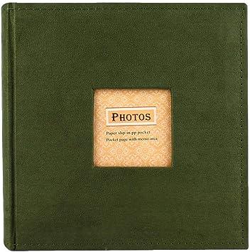 Álbum de recuerdos de viaje para adaptarse a 200 fotos de 4 X 6 pulgadas con área de notas escritura
