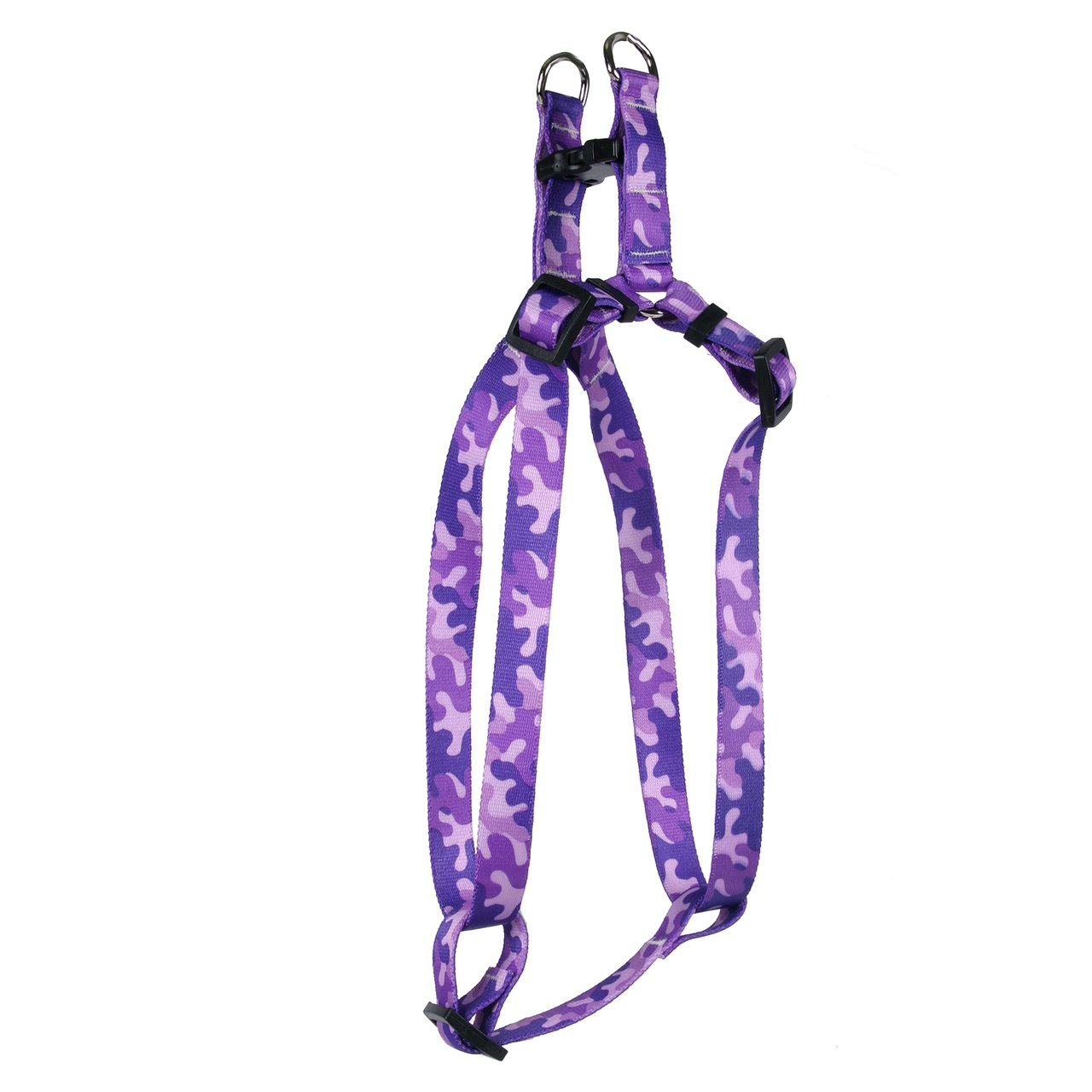 Yellow Dog Design Camo Purple Step-in Dog Harness 3/4'' Wide and Fits Chest Circumference of 15 to 25'', Medium