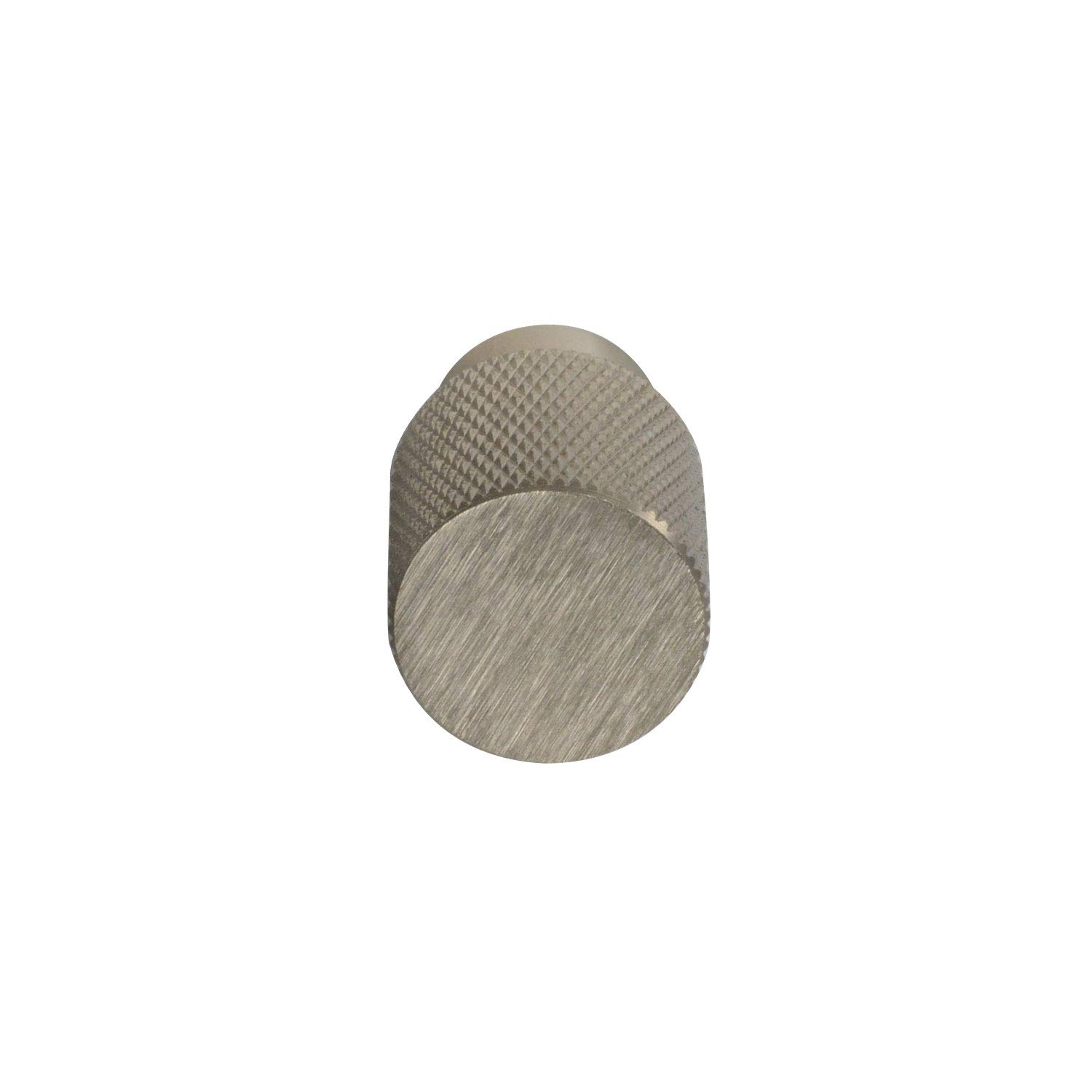 #6500 CKP Brand Linear Aluminum 3/4 in. (20mm) Knurled Knob, Brushed Nickel - 25 Pack by CKP (Image #2)