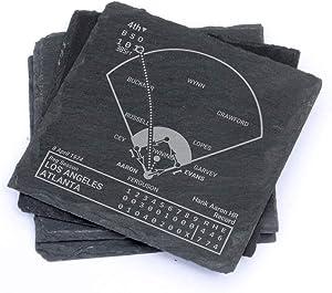 Greatest Braves Plays - Slate Coasters (Set of 4)